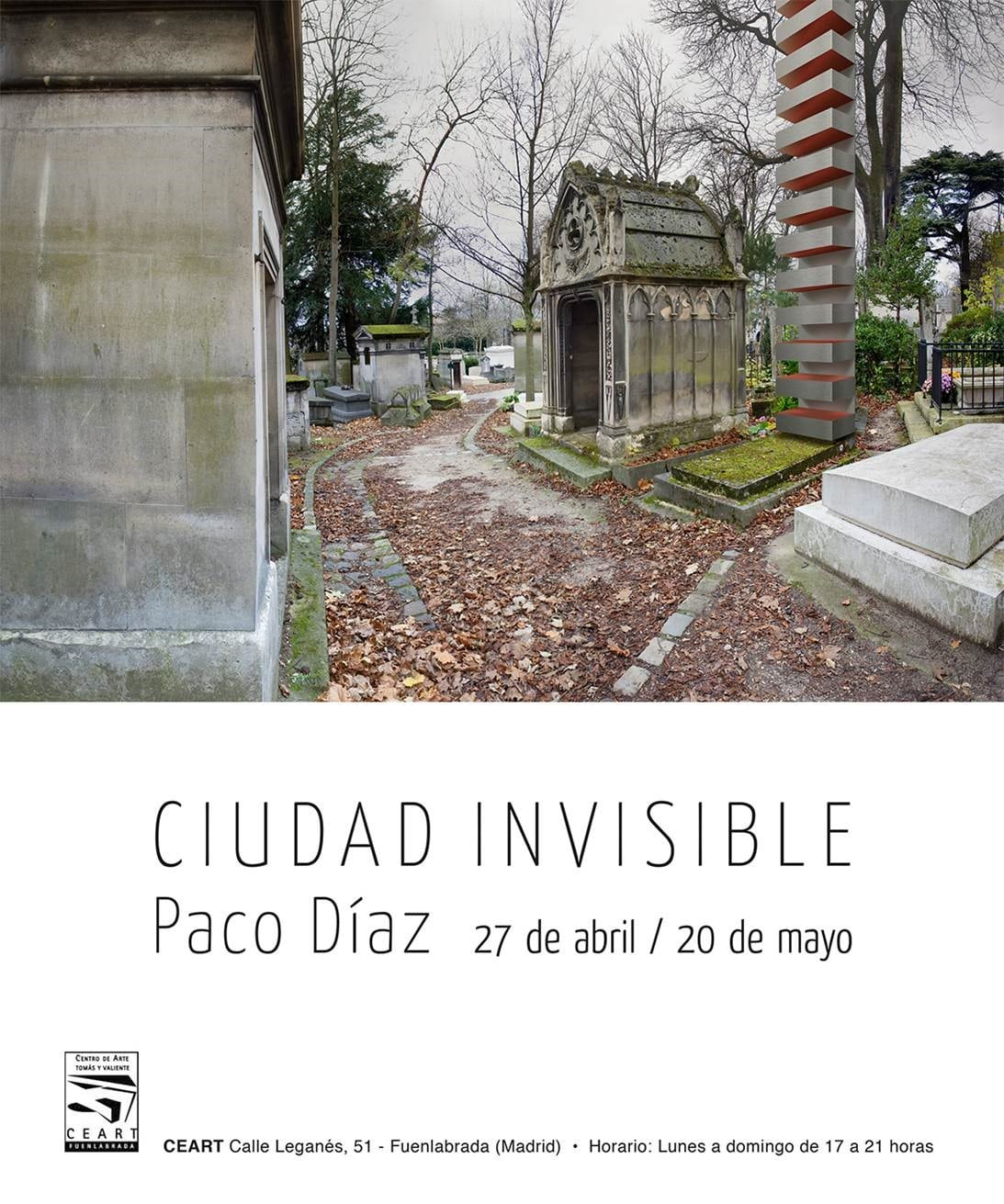 image with information about the invisible city exhibition of Paco Díaz